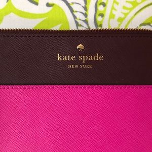 Pink kate spade wristlet wallet